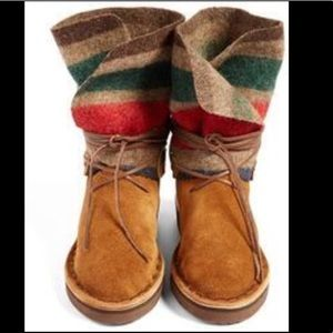 New Chamula Cree Wool Boots in Tan Suede
